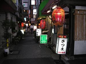 神田駅北口の路地